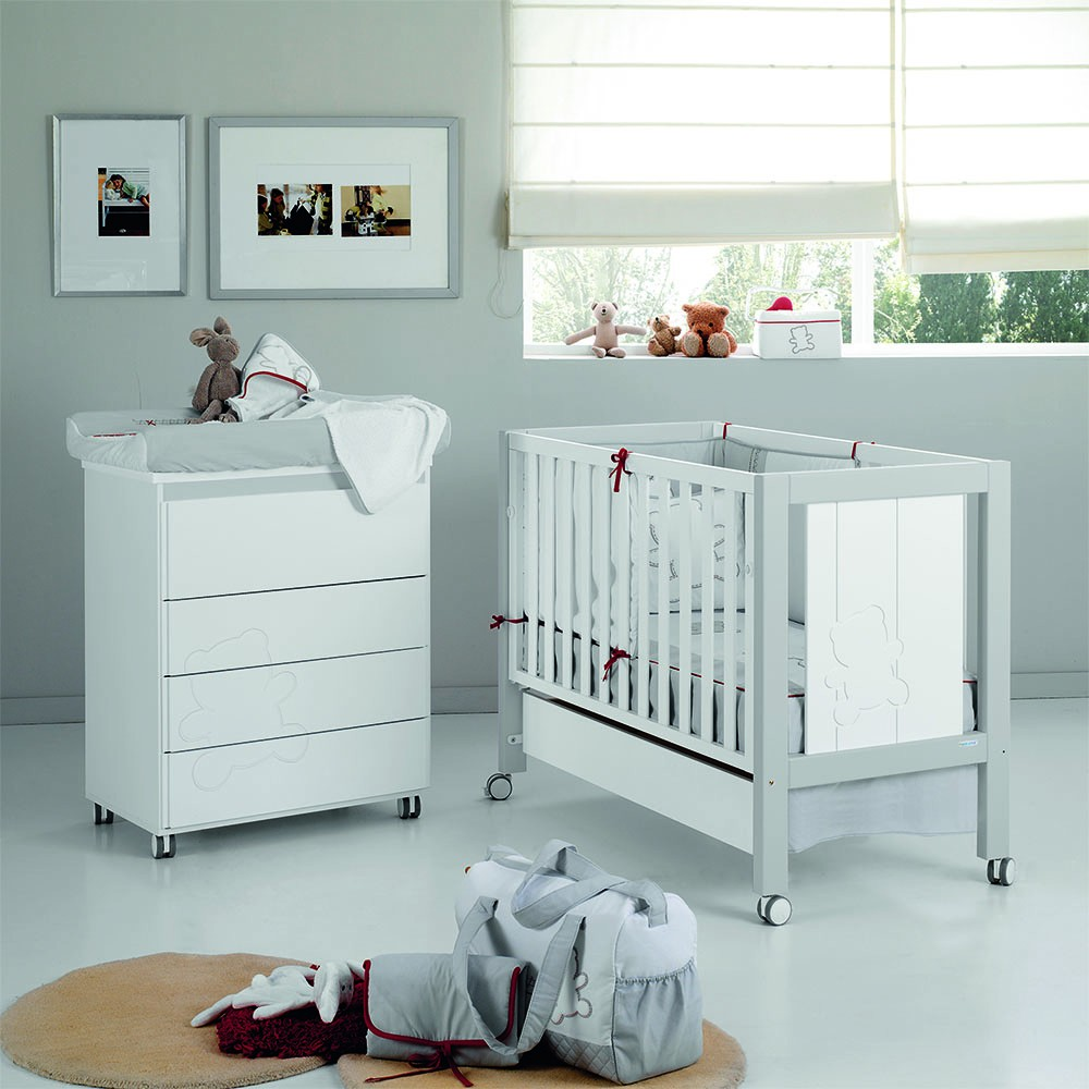Buy Lapsi Neus Cot Bed Grey White Nursery Furniture Store