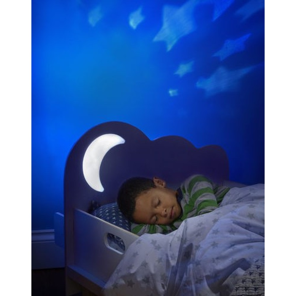 cloud toddler bed with night light projector nursery. Black Bedroom Furniture Sets. Home Design Ideas