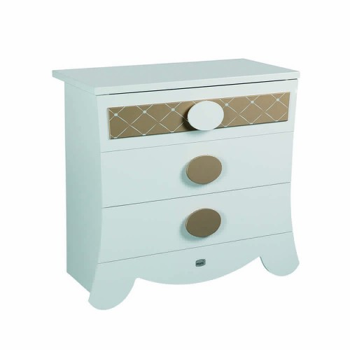 Lapsi Alexa Chest Of Drawers - White/Gold
