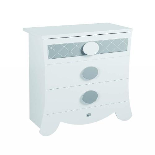 Lapsi Alexa Chest Of Drawers - White/Silver