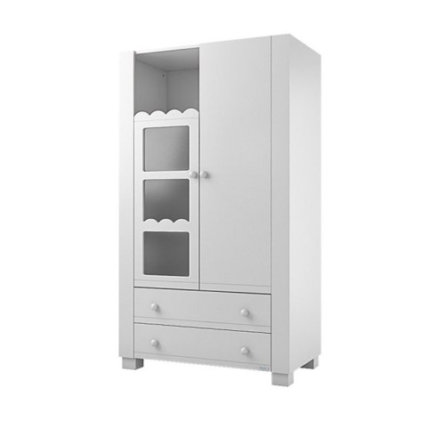 Lapsi Amelia Aran Wardrobe With Swarovski Crystals - White
