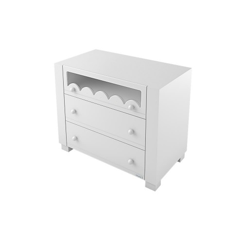 Lapsi Amelia Aran Chest of Drawers With Swarovski Crystals - White