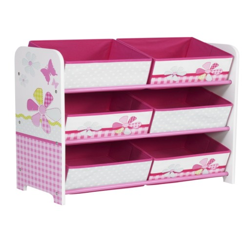 Butterfly Kids Storage Unit Pink & White