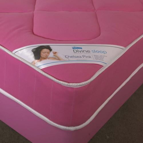 Chelsea Single Mattress in Pink 3ft