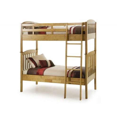 Eleanor Bunk Bed Honey Oak Wooden