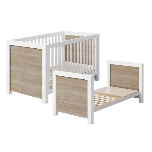 Lapsi Duke Cot Bed - Cinnamon & White