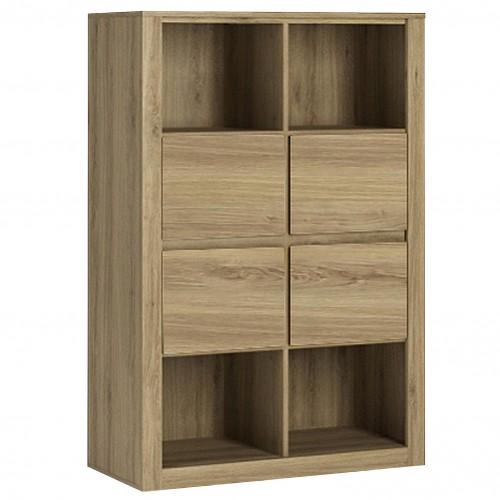 Adventure 4 Drawer Storage Unit with Open Shelves Oak