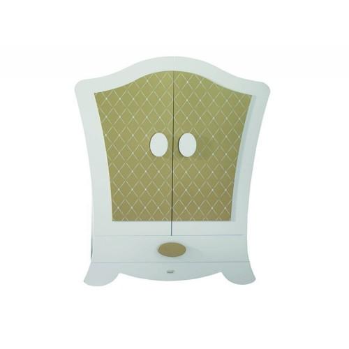 Lapsi Alexa Wardrobe - White/Gold