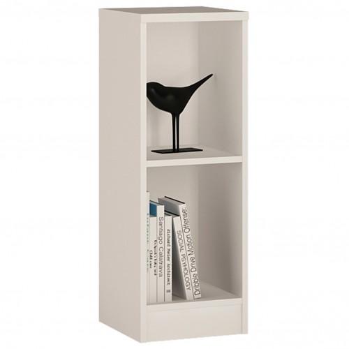 Empire Low Narrow Bookcase in Pearl White