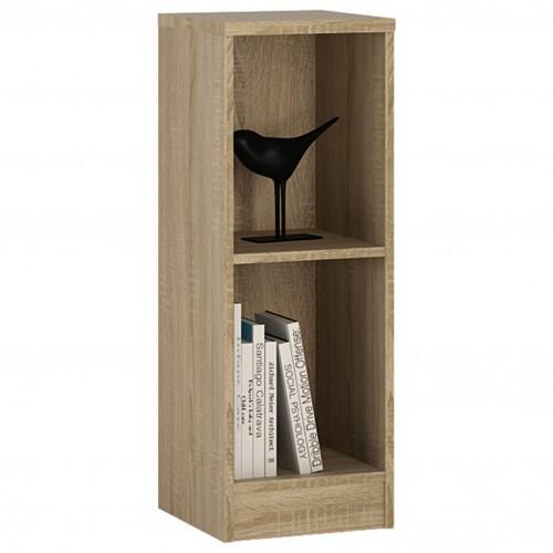Empire Low Narrow Bookcase in Sonama Oak