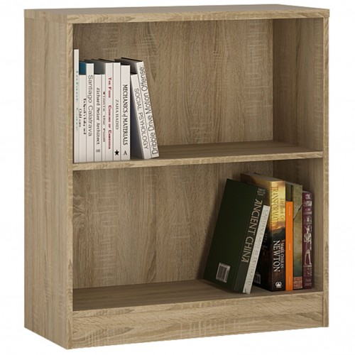 Empire Low Wide Bookcase in Sonama Oak