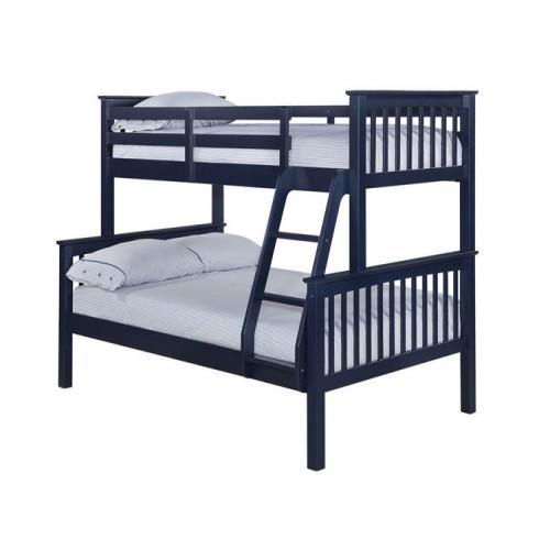 Otto Trio Bunk Bed Solid Navy Blue
