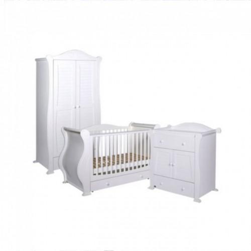 Tutti Bambini 3 Piece Marie Roomset - White