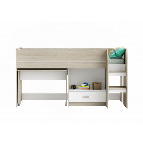 Willow Kids Mid Sleeper Bed Oak & White