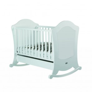 Lapsi Alexa Cot (With Reclining Mattress Base) - White