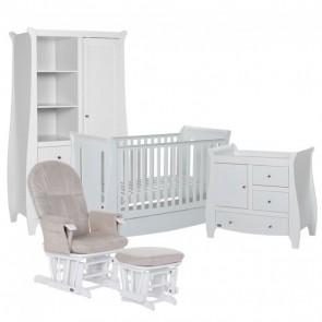 Tutti Bambini 5 Piece Lucas Sleigh Room Set - White