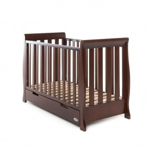 Obaby Stamford Mini Cot Bed - Walnut
