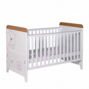 Tutti Bambini 3 Bears Cot Bed - Beech/White