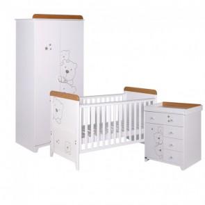 Tutti Bambini 3 Piece Bears 3 Piece Room Set - Beech/White