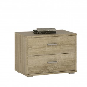 Empire 2 Drawer Bedside Cabinet Sonama Oak