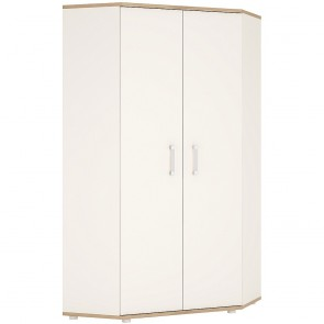 iKids Corner Wardrobe with Opalino Coloured Handles
