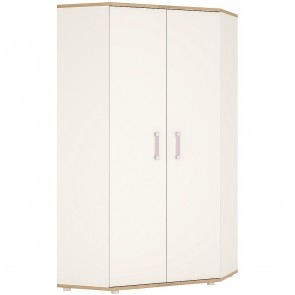 iKids Corner Wardrobe with Lilac Coloured Handles