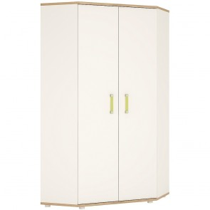 iKids Corner Wardrobe with Lemon Coloured Handles