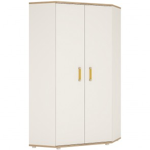 iKids Corner Wardrobe with Orange Coloured Handles