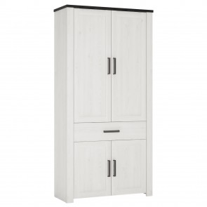 Sherwood 1 Drawer 4 Door Cupboard Wardrobe