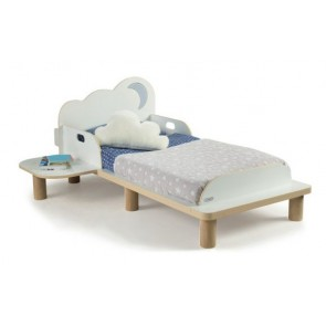 Cloud Toddler Bed with Night Light Projector