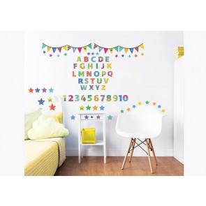 Walltastic ABC Childrens Room Decor Stickers