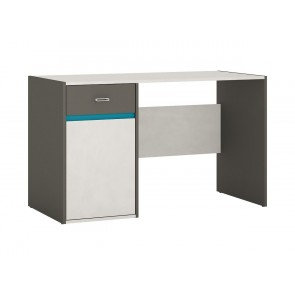 Space 1 Door 1 Drawer Desk Grey and Blue