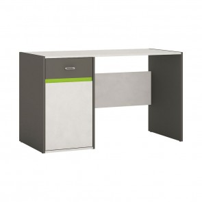 Space 1 Door 1 Drawer Desk Grey and Green