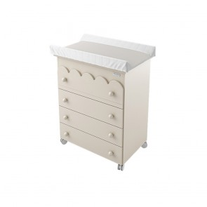 Lapsi Amelia Aran Chest Of Drawers Including Integrated Baby Bath - Sand