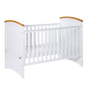 Tutti Bambini Barcelona Cot Bed - Beech/White