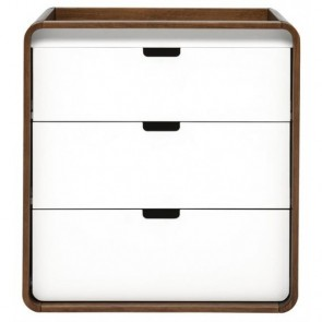 East Coast Cuba Dresser - White/Walnut