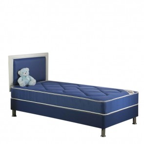 Chelsea Single Divan Bed Set with Mattress In Blue