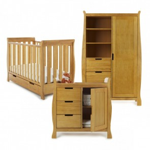 Obaby Stamford Mini 3 Piece Room Set - Country Pine