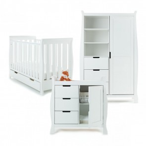 Obaby Stamford Mini 3 Piece Room Set - White