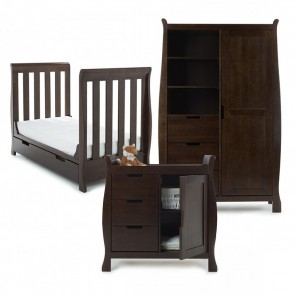 Obaby Stamford Mini 3 Piece Room Set - Walnut
