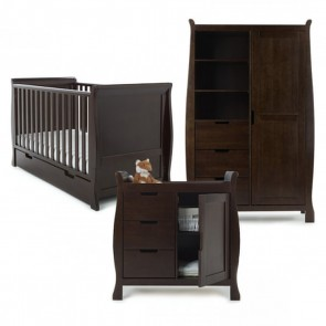 Obaby Stamford 3 Piece Room Set - Walnut