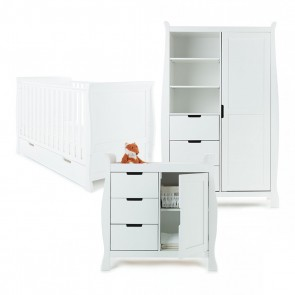Obaby Stamford 3 Piece Room Set - White