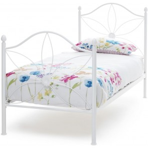 Daisy Bed White Gloss Metal
