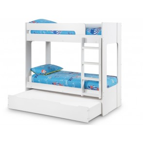 Ellie Bunk Bed With Optional Under Bed Trundle White Wooden