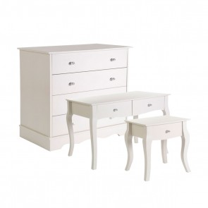 Elsie Kids 3 Piece Bedroom Set - Ivory