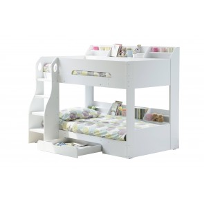 Flick White Bunk Bed with Stoage Drawer