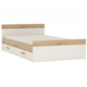 iKids Single Bed with Under Drawer and Orange Coloured Handles
