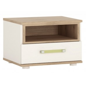iKids 1 Drawer Bedside Cabinet with Lemon Coloured Handle