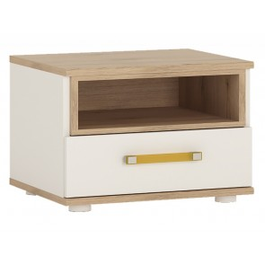 iKids 1 Drawer Bedside Cabinet with Orange Handles