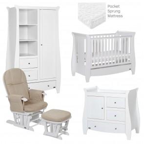 Tutti Bambini Katie 5 Piece Room Set - White